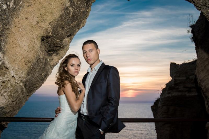 Сватбено фотозаснемане, нос Калиакра