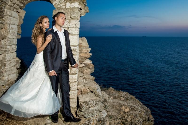 Сватбена фотосесия, нос Калиакра
